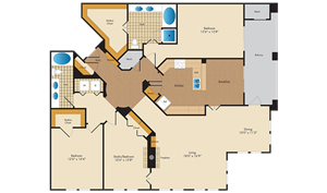 A picture of the C4/C4R floorplan.