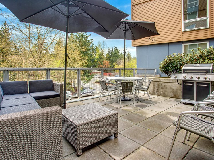 Outdoor BBQ And Resident Lounge Area