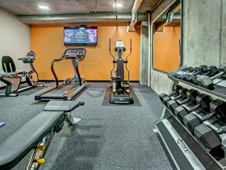 Fully Stocked Fitness Center