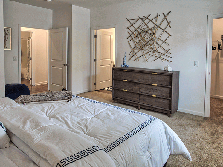 Bedrooms with Carpeting at The Kane at Gray's Landing apartments, Pennsylvania