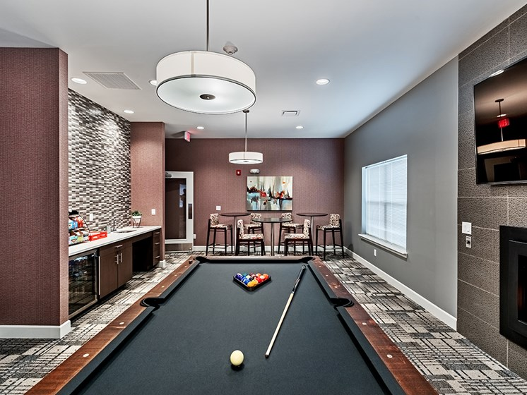 Game Room at The Kane at Gray's Landing apartments, Aliquippa