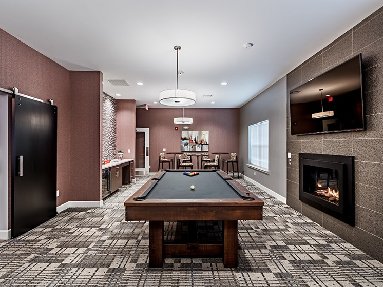 Game and TV Room at The Kane at Gray's Landing apartments, Pennsylvania 15001