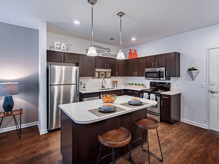 Stainless Steel Kitchen Appliances at The Kane at Gray's Landing apartments, Aliquippa PA