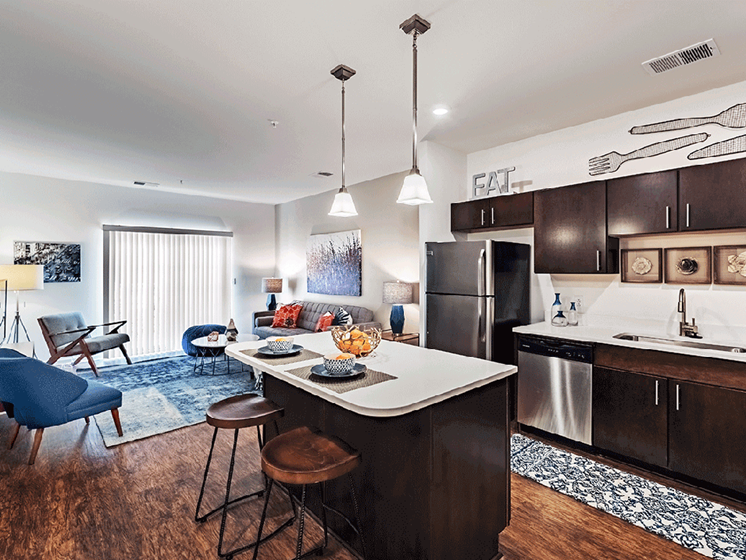 Open Concept Layout at The Kane at Gray's Landing apartments, Aliquippa PA