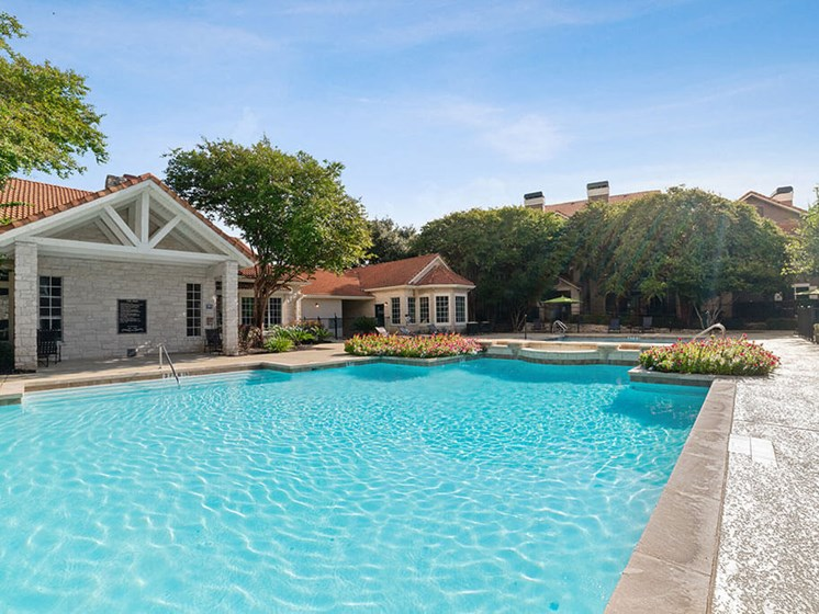 Sparkling Swimming Pool at Madison at Wells Branch, Austin, Texas