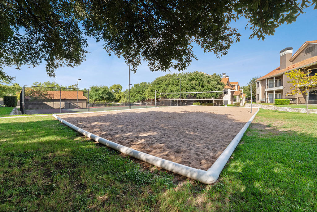 Onsite Volleyball Court at Madison at Wells Branch, Texas