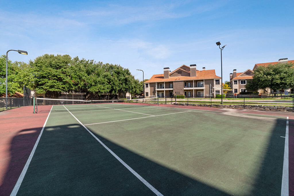 Open Tennis Court at Madison at Wells Branch, Texas, 78727