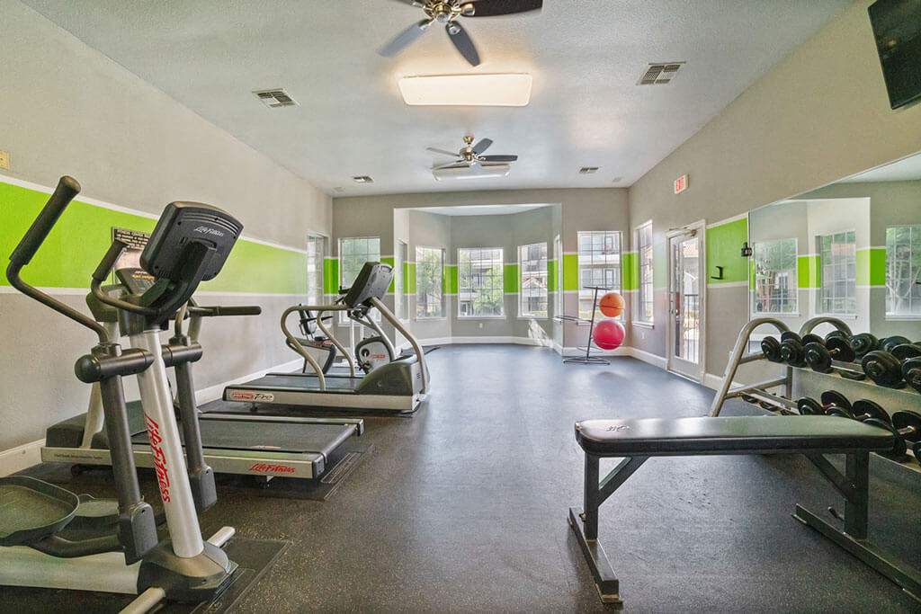 Fitness Center With Modern Equipment at Madison at Wells Branch, Austin, TX