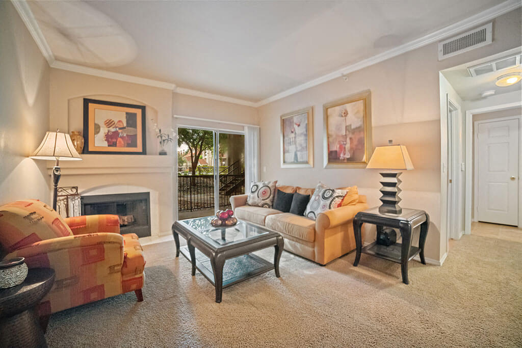 Classic Living Room Design at Madison at Wells Branch, Texas