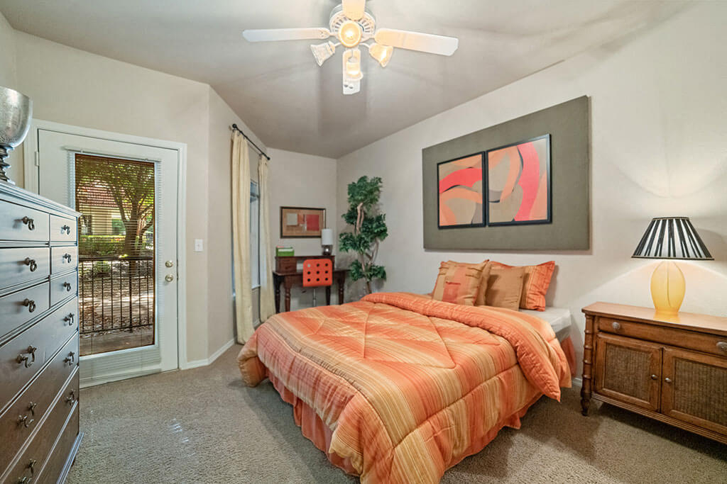 Ceiling Fan In Bedroom at Madison at Wells Branch, Texas, 78727