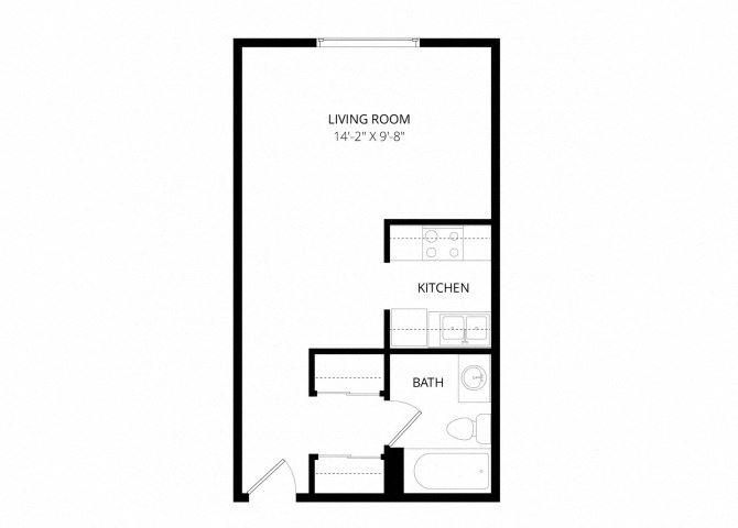 0 for the Studio floor plan.