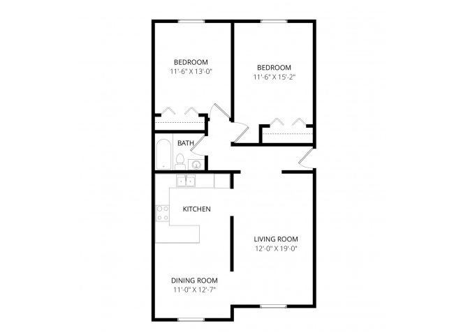 0 for the Large two bedroom floor plan.