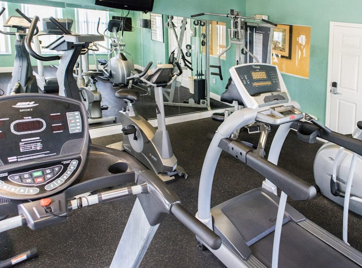 on-site fitness center at Crystal Lake Apartments for rent in Hollywood, FL