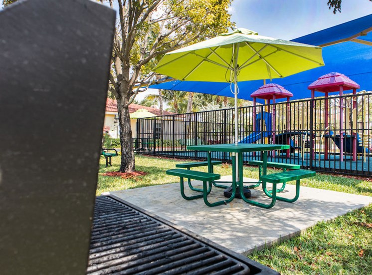 Crystal Lake Apartment's Grills and picnic area
