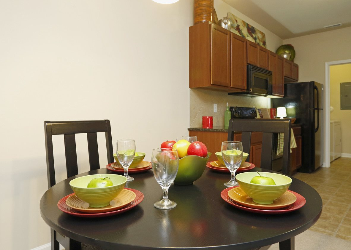Model Floor Plan Dining Room at Bristol Park Apartments - Fayetteville, NC