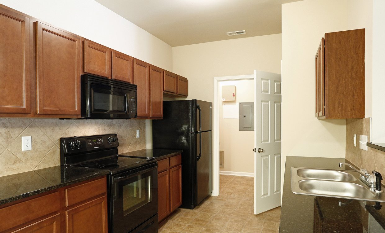 Model Floor Plan Kitchen at Bristol Park Apartments - Fayetteville, NC