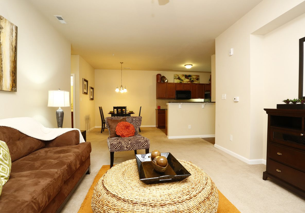 Model Floor Plan Living Room at Bristol Park Apartments - Fayetteville, NC