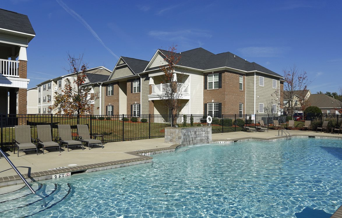 Resort-Style Sparkling Swimming Pool at Bristol Park Apartments in Fayetteville, NC