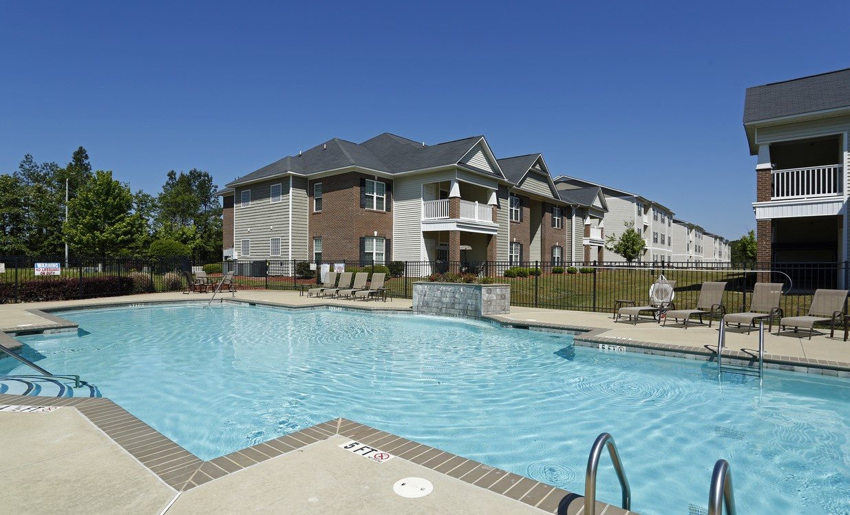 Resort Style, Sparkling Swimming Pool at Bristol Park Apartments - Fayetteville, NC