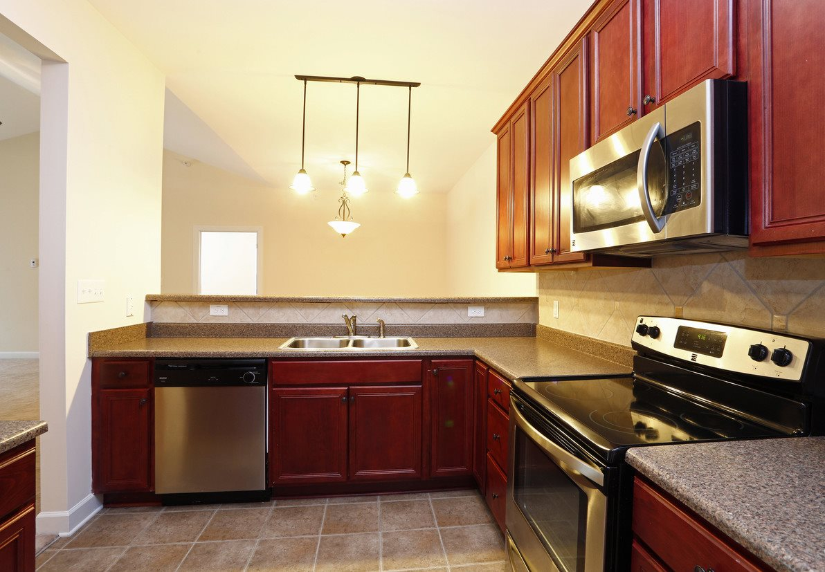 Model Floor Plan Upgraded Kitchen at Bristol Park Apartments - Fayetteville, NC