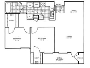 Park at Rolling Hills Apartments | The Wanderer Floor Plan