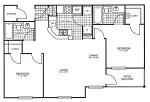 Park at Rolling Hills Apartments | The Adventurer Floor Plan