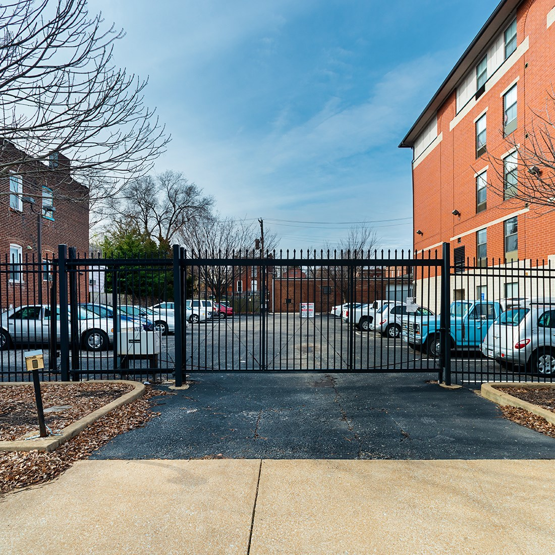 exterior apartment building exit gate_Booth Manor Apartments St. Louis, MO