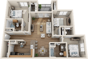 Providence at Prairie Oaks| C1 Floor Plan 3 bedroom 2 bath