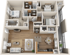 Providence at Prairie Oaks| C2 Floor Plan 3 bedroom 2 bath