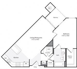 1F Floorplan at The Flats at Wheaton Station Apartments