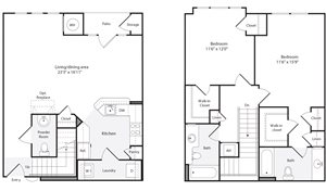 2J Floorplan at The Flats at Wheaton Station Apartments