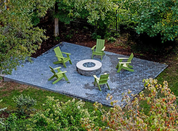 Hayes House fire pit with seating