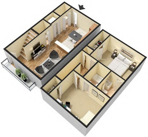 Floor Plans Of Dana Downs Townhome Apartments In