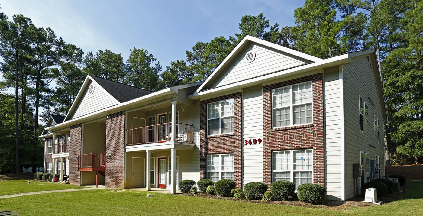 Residential Building Exterior at Karen Lake Apartments in Fayetteville North Carolina