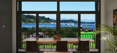 Panoramic View From Balcony at Harbor Heights, Washington, 98501