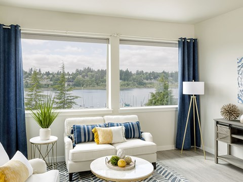 Living Room With View at Harbor Heights, Olympia