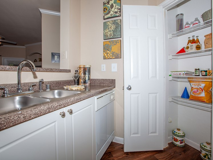 kitchen with pantry and sink