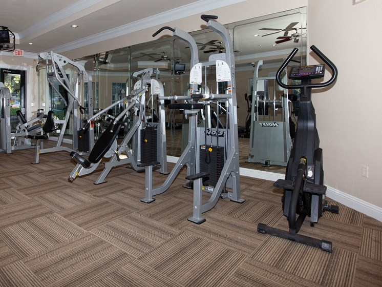 fitness center with machines