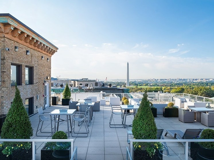 One-of-a-kind rooftop at The Woodward Building Apartments, Washington, DC, 20005