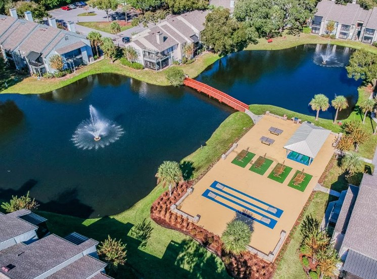 Aerial View Of The Property And Lake at Enclave on East, Largo, FL