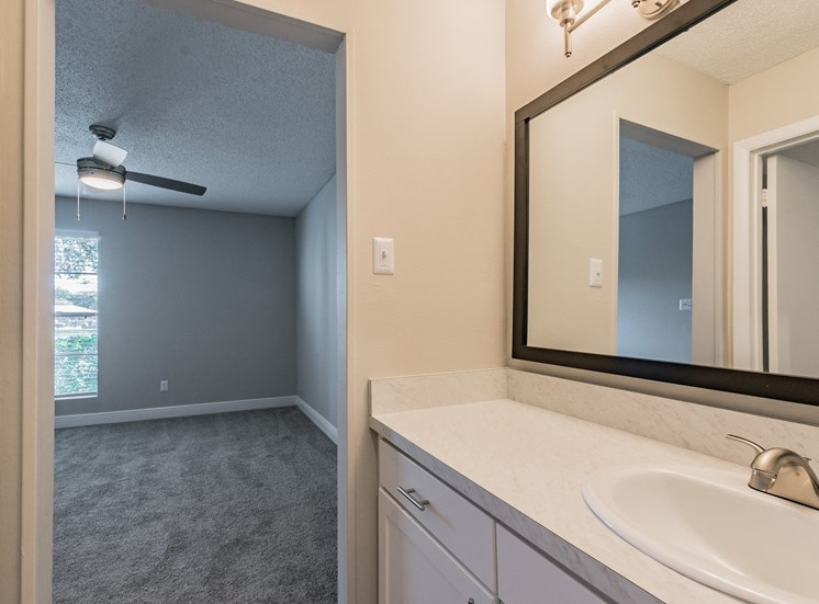Renovated Bathrooms With Quartz Counters at Enclave on East, Largo, Florida