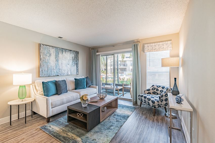 Living Room With Expansive Window at Enclave on East, Largo, FL