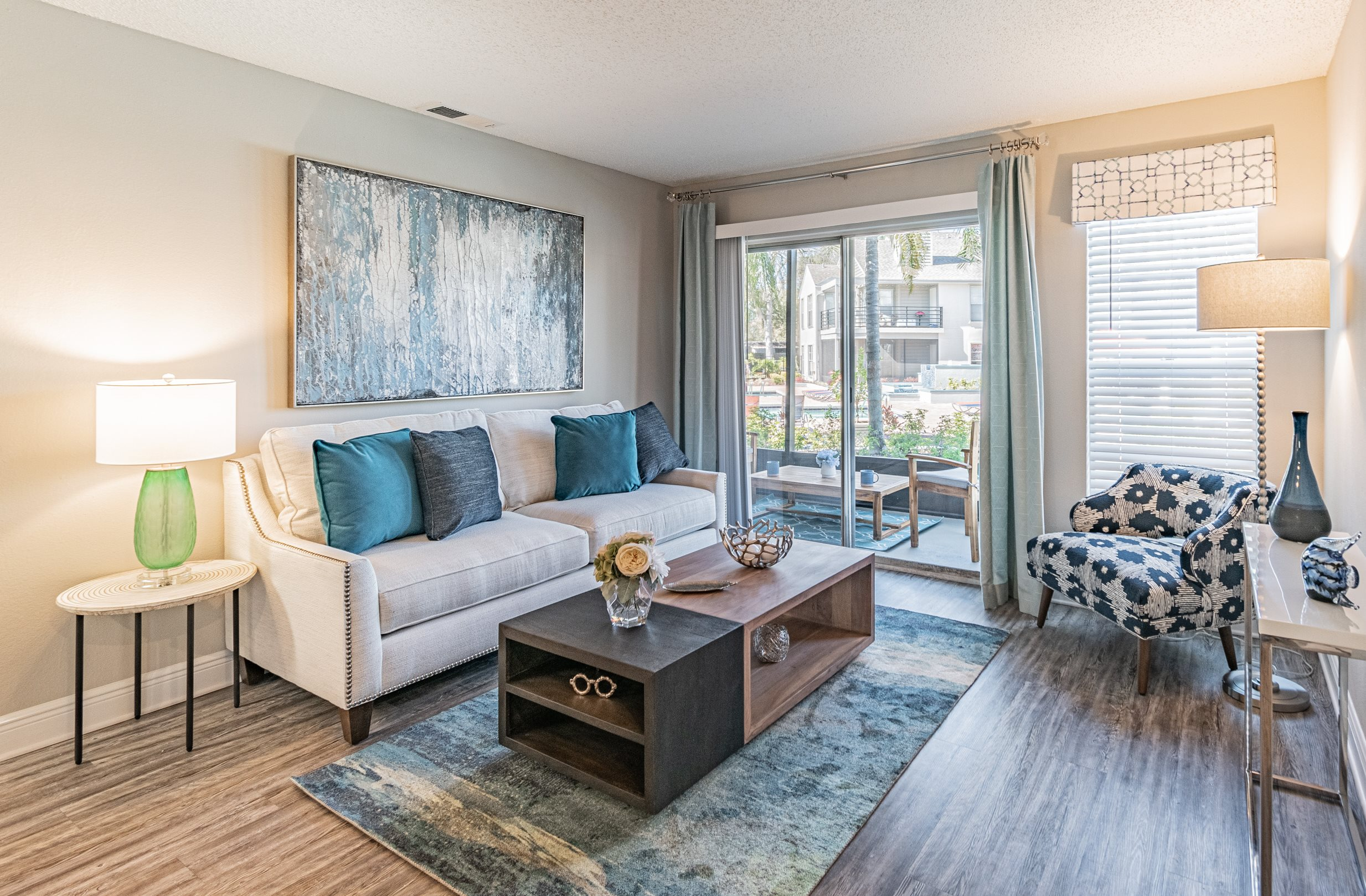 Spacious Living Room at Enclave on East, Florida