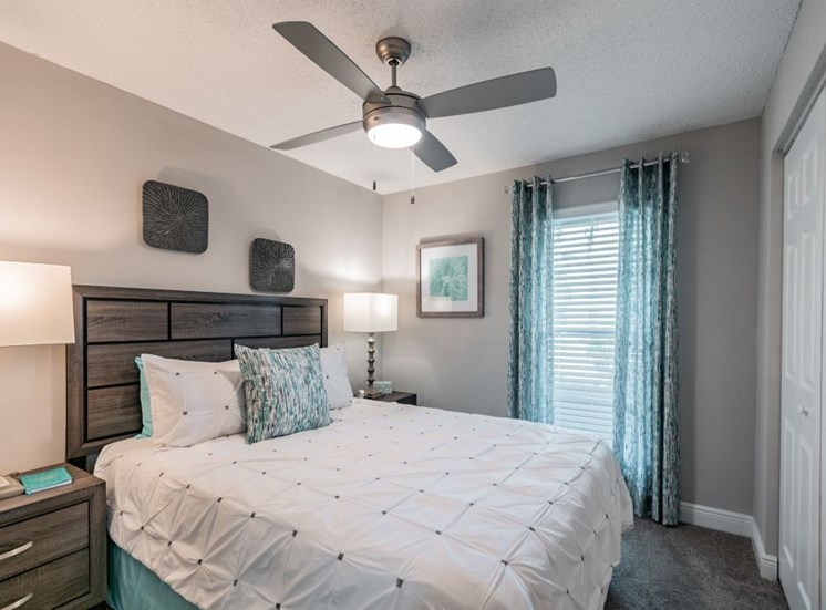 Bedroom With Ceiling Fan at Enclave on East, Largo