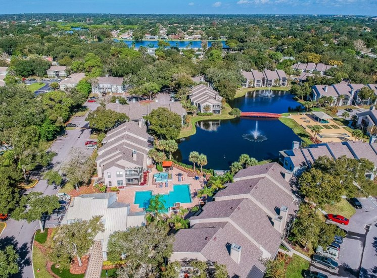 Aerial View Of The Community at Enclave on East, Largo, FL, 33771