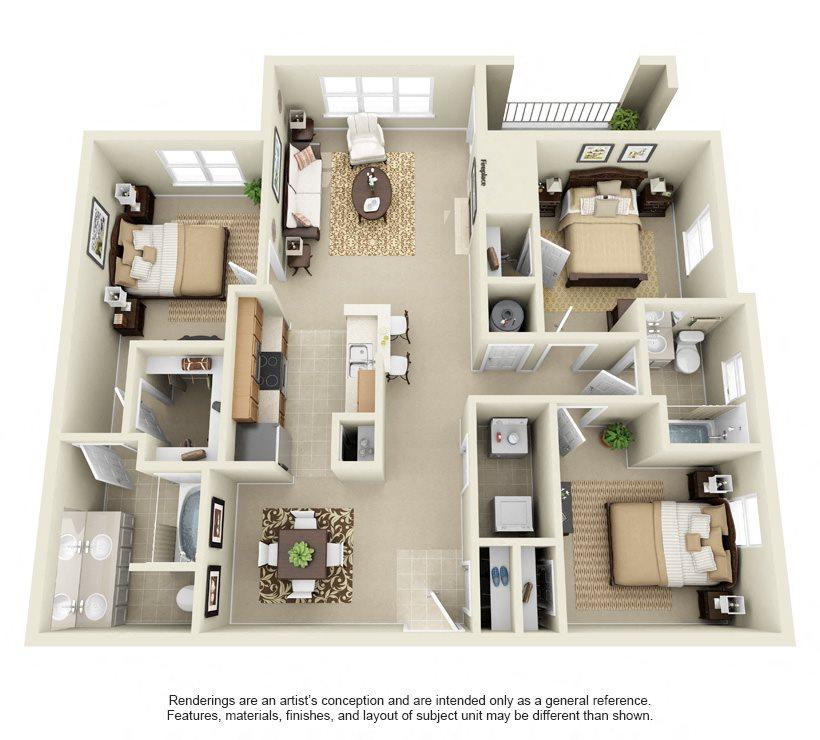 Floor Plans Of Cypress Apartments In Mckinney, TX