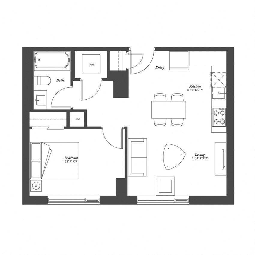 1 Bedroom - Plan 1C