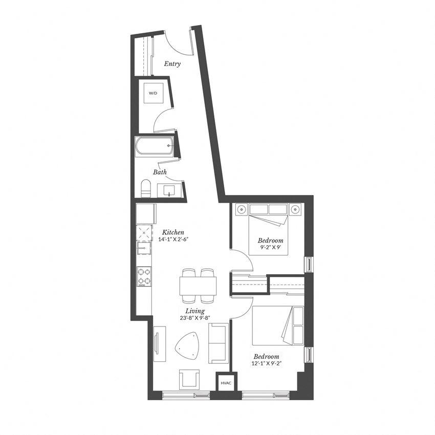 2 Bedroom - Plan 2D