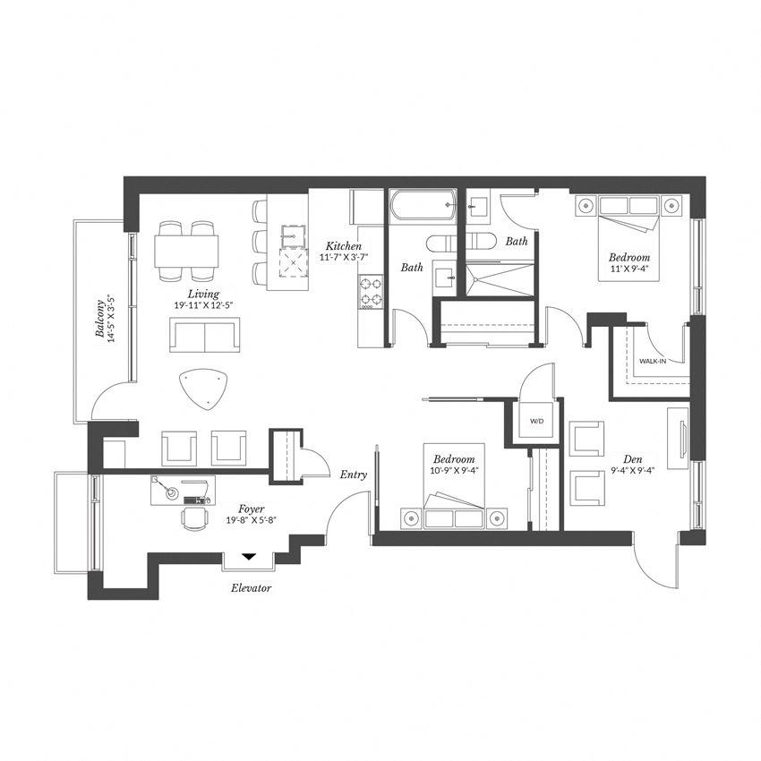 2 Bedroom Exec - Plan 2.5B