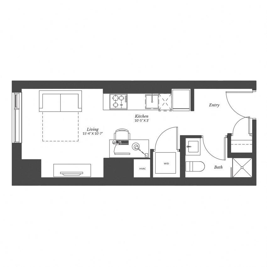 Studio - Plan 0B